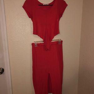 2 piece skirt set from Fashion Nova